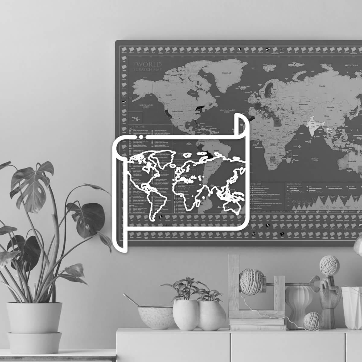 Nástěnné mapy a dekorace