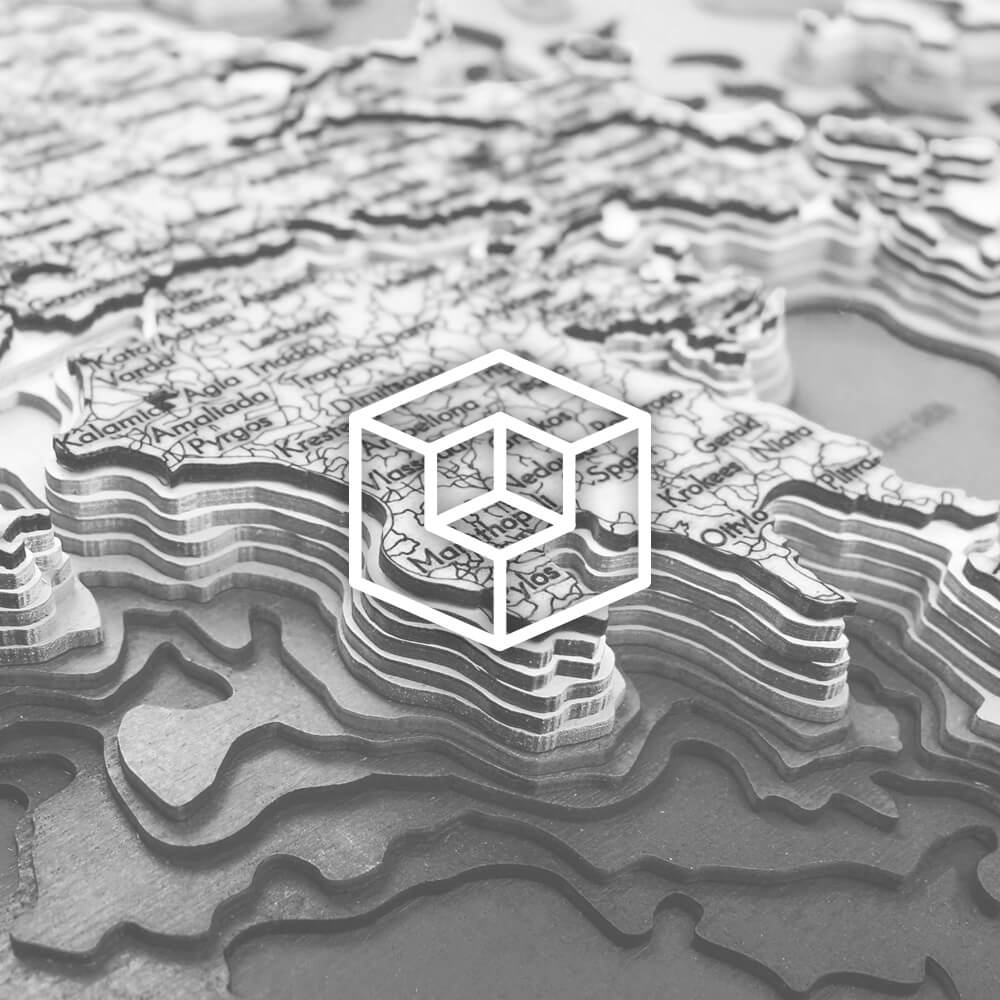 Dřevěné 3D mapy