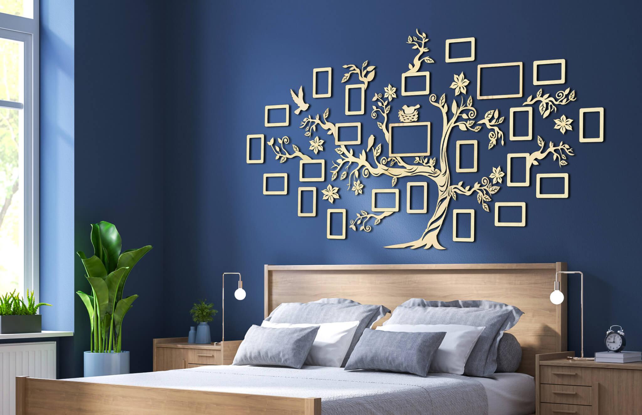 Dřevěný rodokmen - dekorace na zeď - rodostrom