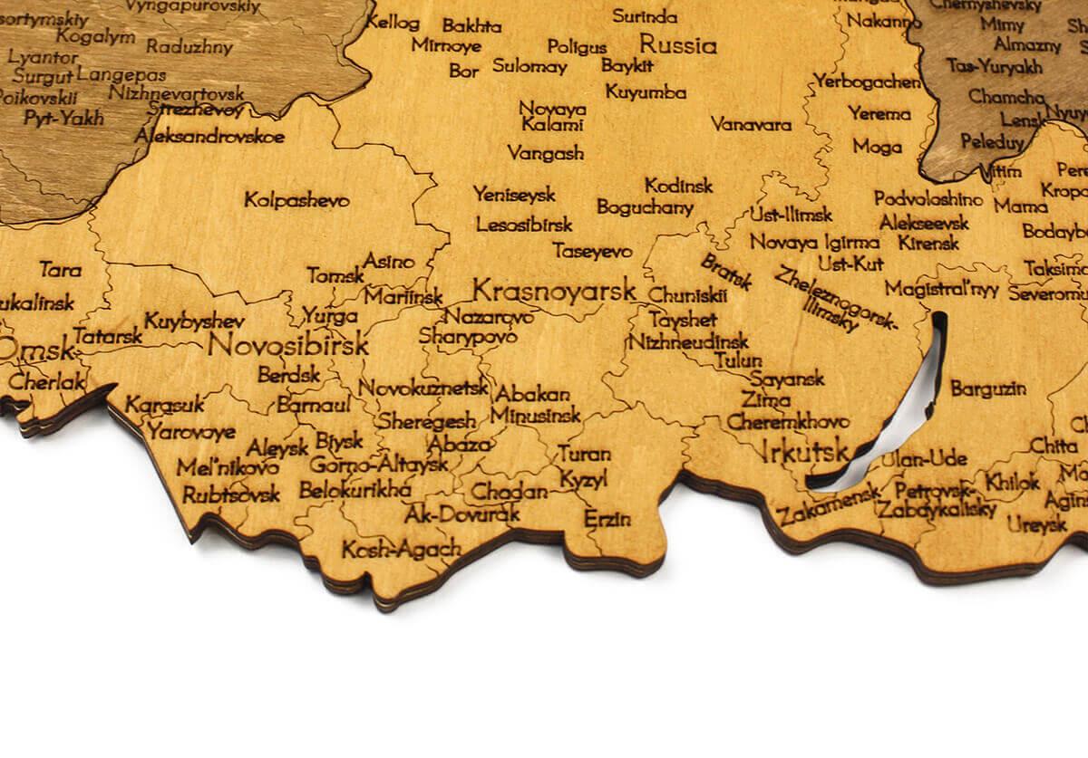 Dřevěná mapa Ruska