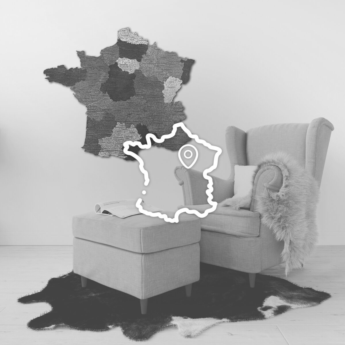 Dřevěné mapy zemí