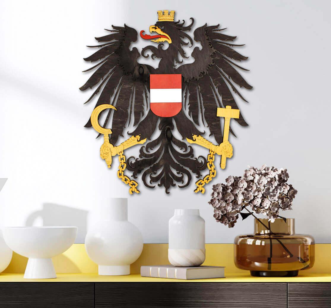 Dřevěný státní znak Rakouska