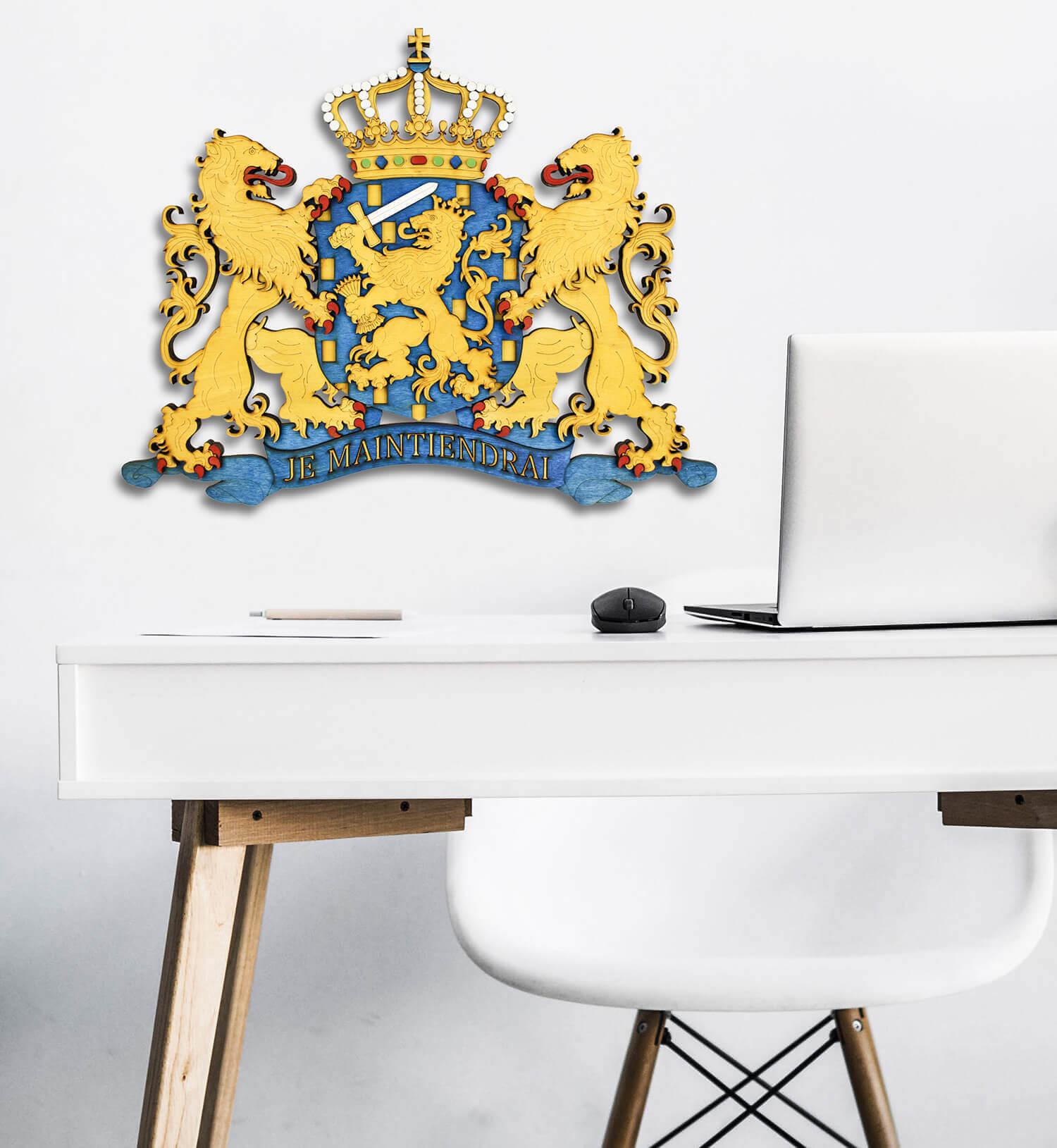 Dřevěný státní znak Holandska