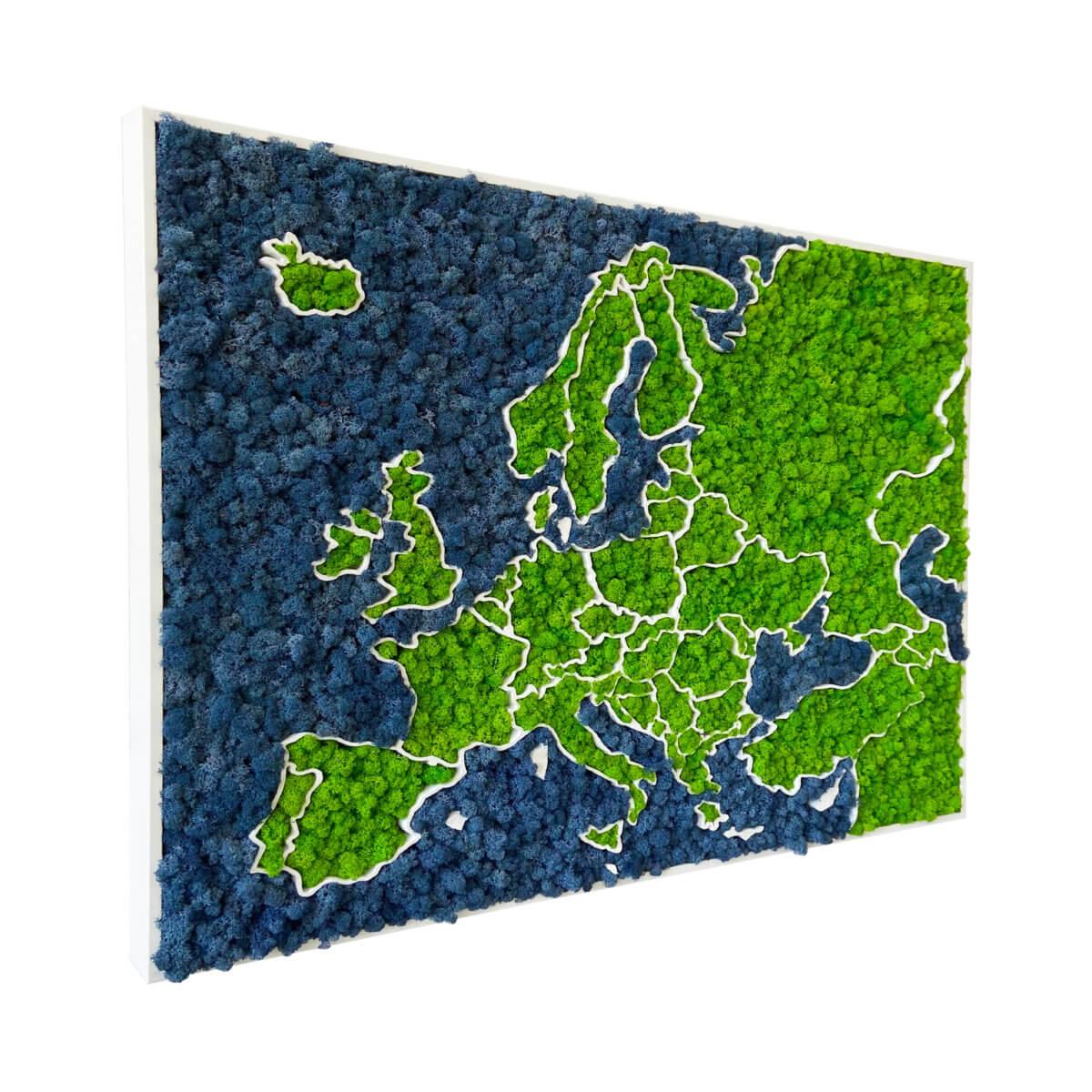 3D mechová mapa Evropy - organický lišejník